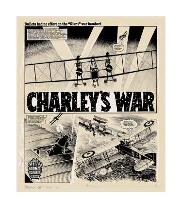 Original Charley's War Art: Limited edition screen print - Bristol Board