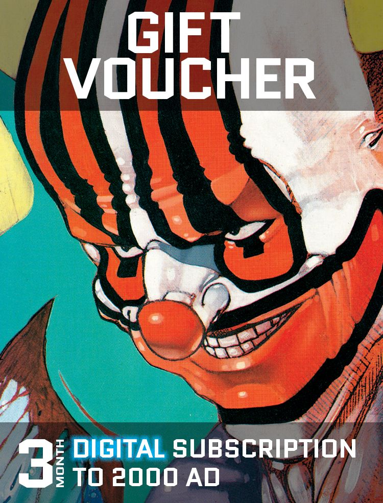 Gift Voucher for a Three Month Digital Subscription to 2000 AD